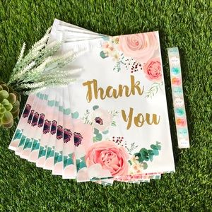 """FLORAL thank you Poly Mailer (10) - 10""""x13"""" 🌸"""